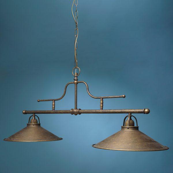 Luč stropna kovina dvojna