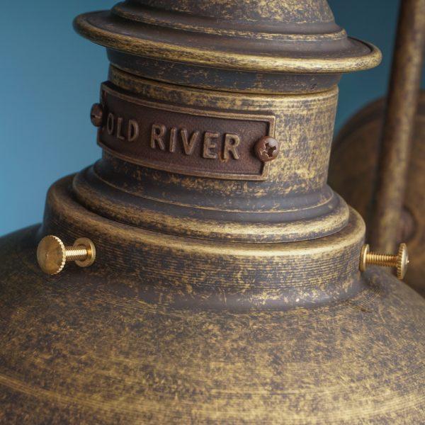 Luč stenska medenina old river
